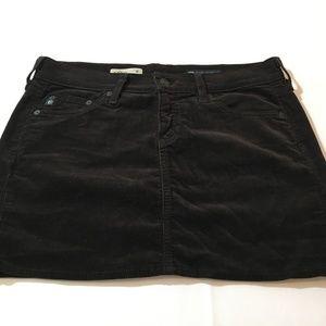 Adriano Goldschmied Mini Skirt Size 27 Brown